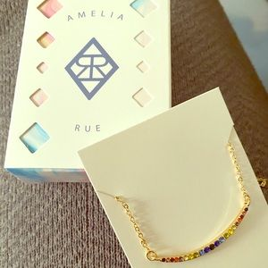 Amelia rue multi-color bar necklace